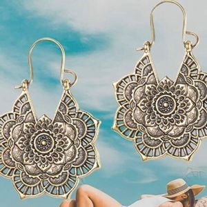 Gold Vintage Boho Earrings